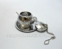 Unique design teapot shape stainless steel tea ball