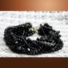 fashion nature black stone bracelet/bangle