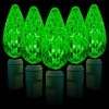 Christmas light C6 string /green color
