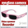 cute pink eyesuglass camera,hd video camera hd eyeglasses camera