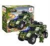Military car enlighten building block toys