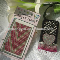 we sell beautiful acrylic cell phone sticker (ZY1-8266)