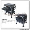 Professional salon black manicure and pedicure chair sofawith foldable storage tray and 3 pull out drawers