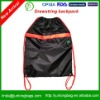 Drawstring backpack with zipper front pocket