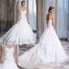 Elegant sweetheart beaded muslim wedding dress