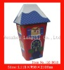 house shape box, house shape candy tin box