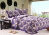 flower printing quilted bedspread bedcover