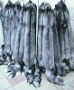 silver fox fur raw fur material for collar clothing and garments