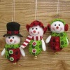 Jingle Bell Snowman Christmas Tree Ornament