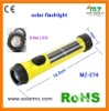 Hot sales!!! 2011 new design waterproof led solar promotional flashlights with CE,ROSH
