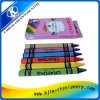 6pcs oil pastel wax crayon in paper color box,wax crayon making
