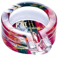 2011 Latest Fashion Round Glass Ashtray