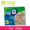 Ultra-thin and close fitting design baby diapers