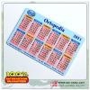 Plastic calendar cards