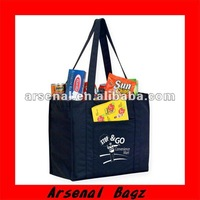 Nonwoven handbag with logo