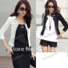2012 New Lady's Long Sleeve Shrug Suits Jacket Fashion Cool Rivet Design