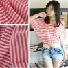 2013 latest design fashionable beautiful girl t shirt fabric