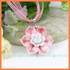 hot enamel flower imitation necklace jewelry
