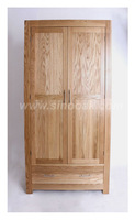 London Olympic Solid Oak 1 Drawer 2 Door Wardrobe
