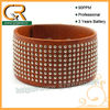 Genuine Leather Stud Bracelets 030659