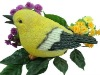 Resin Bird Figurine With Motion Sensor For Home and Garden Decoration
