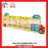 2012 latest bus toy cabinet children wooden bookshelf