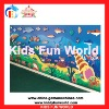 2012 Popular hot sale children sea world pattern climbing wall(KFW-C2001)