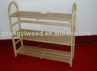 eco-friendly natural wood shoe shelf