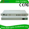 1 E1 over IP Converter with 2 SFP optical FE ports