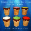 Ceramic small cups ice cream