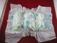 Elastic waist band+magic tape baby diaper libero