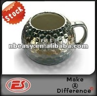 The cool electroplate ceramic disco Mug