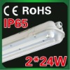 ip65 T5 weatherproof fluorescent fixture with CE listed