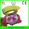 2012 New silicone style watch with diamond for Christmas gift