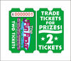Lottery tickets for arcade game machines