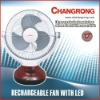 CR-1038 RECHARGEABLE FAN WITH LIGHT