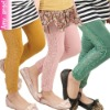 OEM 2012 newest design child pant,kids legging with lace design