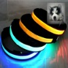 LED Dog Safety Flashing Light Collar Pet Blinking Night