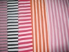 different color of stripe french terry knitting fabric