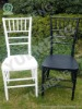 Plastic Chiavari Chair( Black/White)