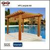 WPC pergola kits,durable quality,easy to install,10 years experience supplier guarantee for 10 years
