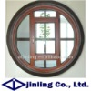 Solid wood with aluminum cladding circle decorate fixed window