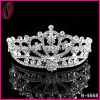 Dramatic Rhinestone Large Tall Beauty Pageant Queen Crown Tiaras