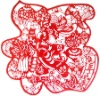 chinese rabbit year decoration papercut(HPC-11045)