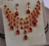 Jewelry set red crystal