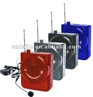 Professor portable Megaphone with FM radio and TF&USB