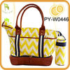 2013 designer diaper bag with leather trim