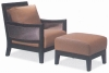 Solid Wood Chaise with stool PFS3330