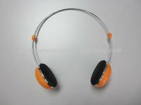 stereo plastic headphone