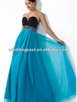 Tulle Sweetheart Neckline A-Line Prom Dress with Beaded Waistband